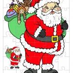 Printable Colored Santa 1 Small-Piece Puzzle