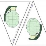 Small Printable Grenade Flags
