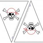 Small Printable Skull Flags