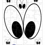 Printable Eyes 2 Small-Piece Puzzle
