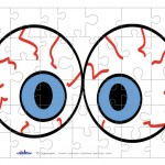 Printable Eyes 3 Small-Piece Puzzle