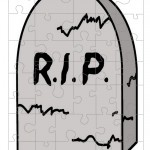 Printable Gravestone Small-Piece Puzzle