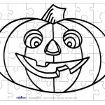 Printable B&W Pumpkin 1 Small-Piece Puzzle