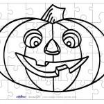 Printable B&W Pumpkin 1 Small-Piece Puzzle