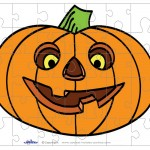 Printable Colored Pumpkin 1 Small-Piece Puzzle