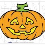 Printable Colored Pumpkin 2 Small-Piece Puzzle