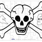Printable Skull Small-Piece Puzzle