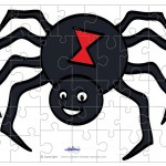 Printable Colored Spider Small-Piece Puzzle
