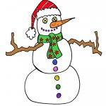 Printable Colored Snowman