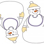 Blank Printable Snowman with bib Invitations