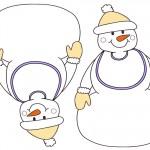 Blank Printable Snowman with bib Invitations