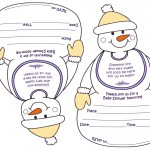Printable Snowman Baby Shower Invitations