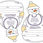 Printable Snowman Baby Shower Invitations