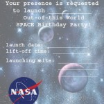 Printable Space A5 Invitation 1