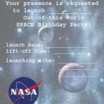 Printable Space A5 Invitation 1