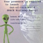 Printable Space A5 Invitation 2