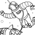 Printable Space Coloring Page 1