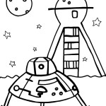 Printable Space Coloring Page 4