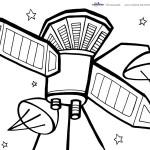 Printable Space Coloring Page 5