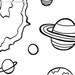 Printable Space Coloring Page 6