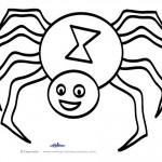 Large Printable B&W Spider