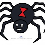 Large Printable Colored Spider