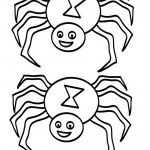 Medium Printable B&W Spider