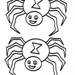 Medium Printable B&W Spider