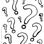 Printable Question Marks Coloring Page