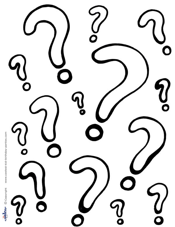 Printable Question Marks Color