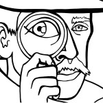 Printable Spy Detective Coloring Page 4