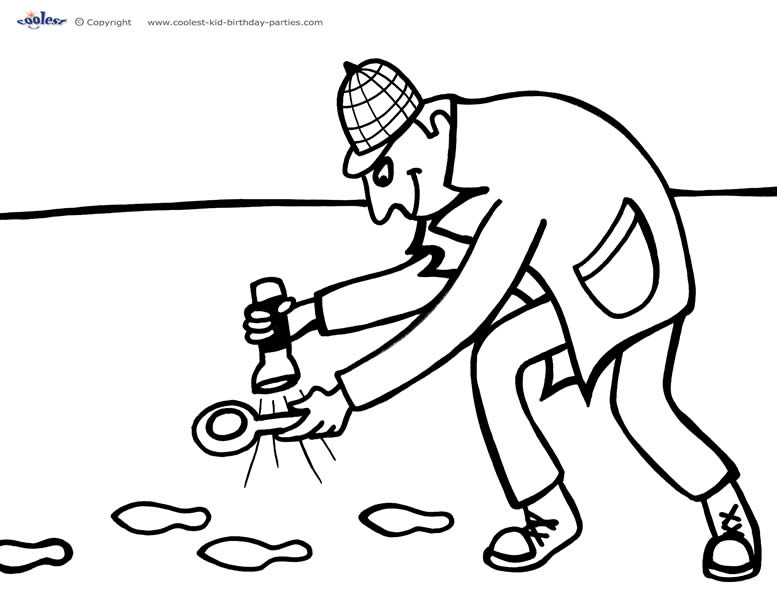 coloring pages of decetive - photo#31