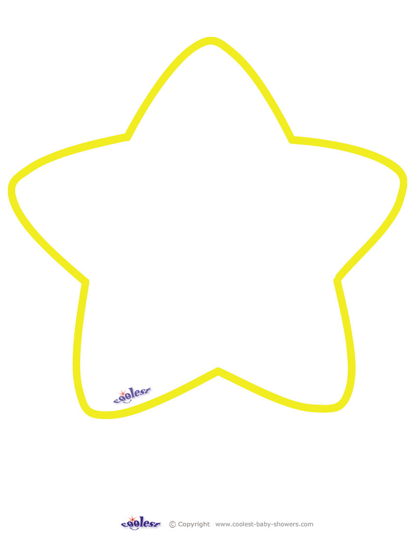 picture relating to Stars Printable named Massive Printable Yellow Star