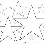 Printable Color Star Decoration