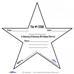 Printable Star-Shaped Invitations