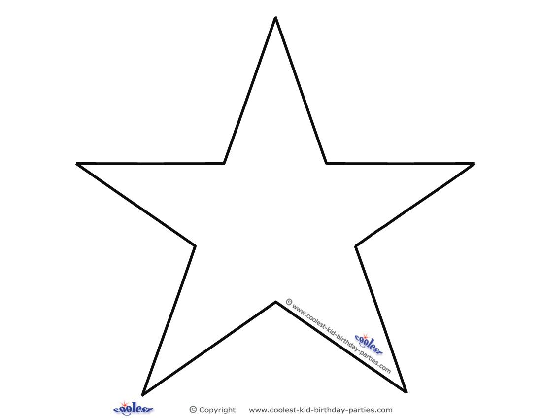 Blank Printable B W Star Invitations