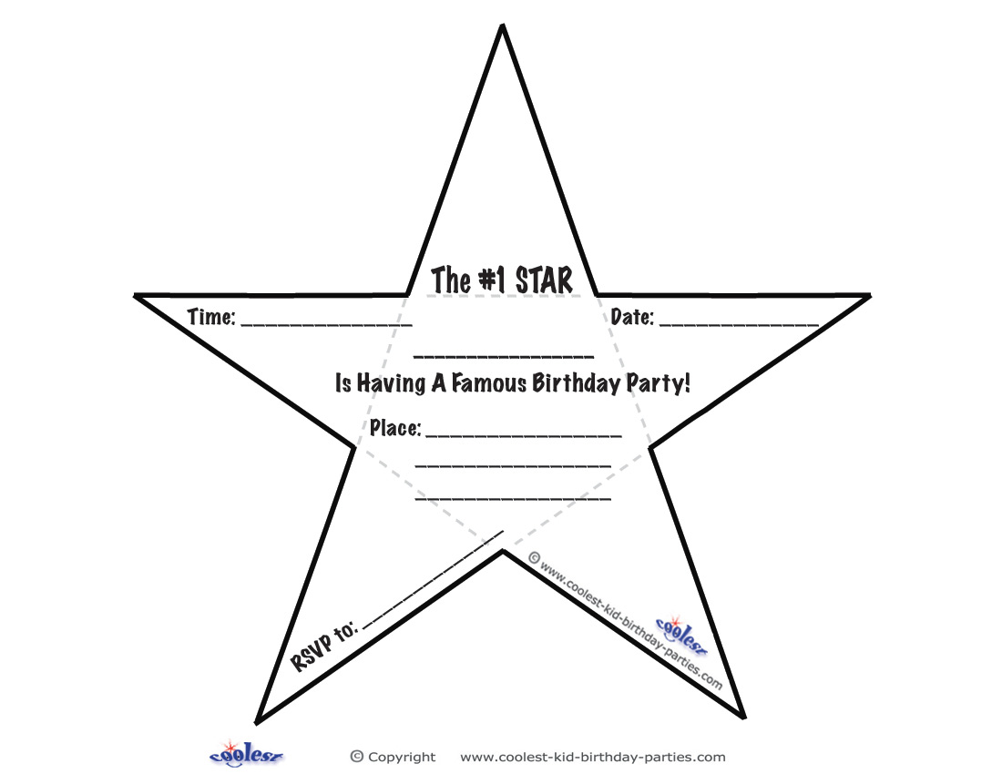 This is a picture of Modest Hollywood Star Template Printable