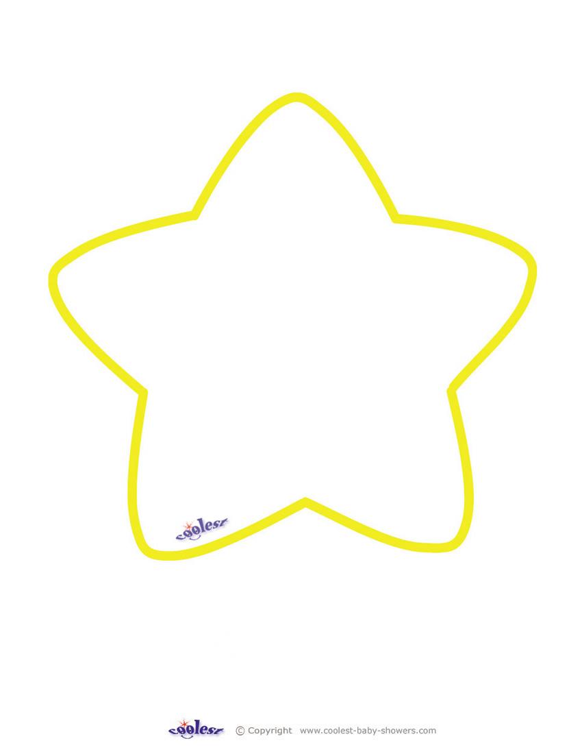 image regarding Printable Star Images titled Blank Printable Star Invites