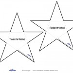 Printable B&W Star Thank You Cards