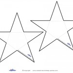 Blank B&W Printable Star Thank You Cards