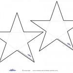 Blank B&W Printable Star Thank You Cards