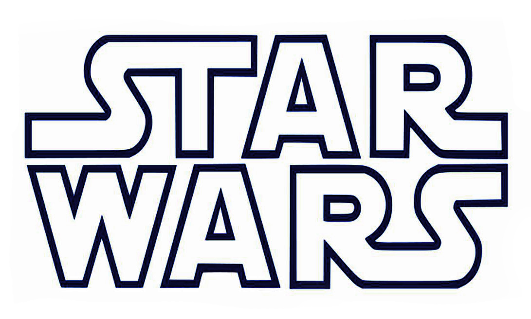 Printable BampW Star Wars Logo