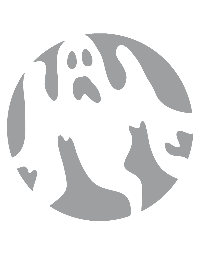 Printable ghost stencil tags halloween holiday parties sciox Choice Image