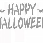 Printable Happy Halloween Stencil