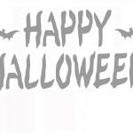 Printable Happy Halloween Stencil