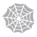 Printable Spider Web Stencil