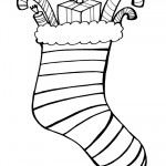 Printable B&W Stocking 2