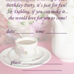 Printable Tea A5 Invitation