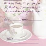 Printable Tea A5 Invitation