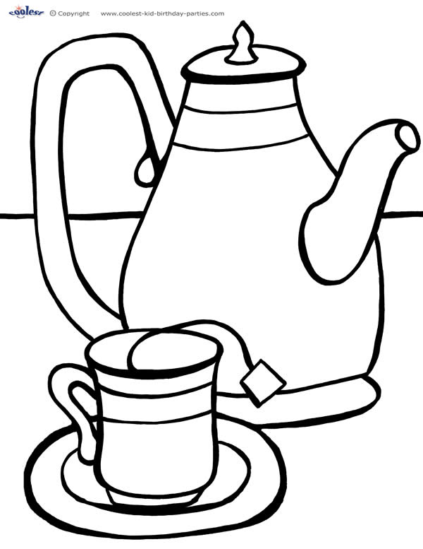 printable tea cup coloring pages - photo#9